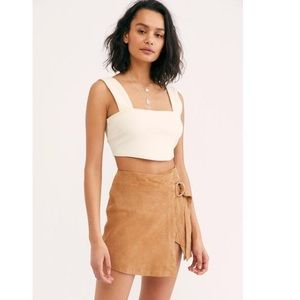 FR. PEOPLE UNDERSTATED LEATHER WRAP MINI CAMEL TAN